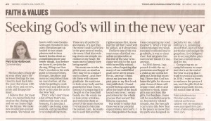 AJC 12.26.15 Seeking Gods will for the New Year 001