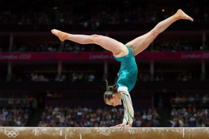 gymnast on beam