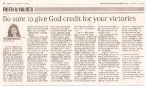 AJC 10.03.15 Be Sure to Give God Credit 001